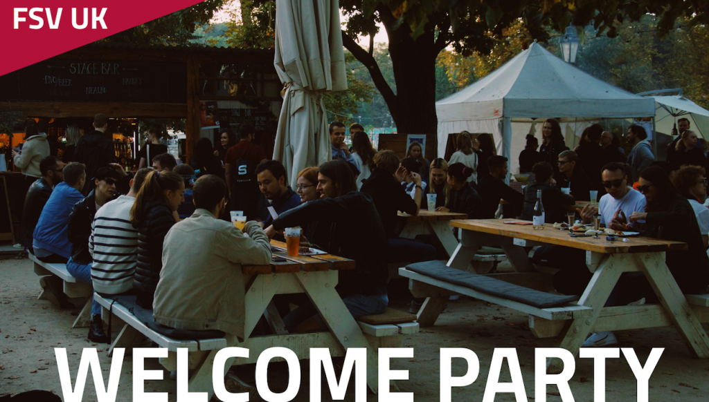 Welcome party, studenti